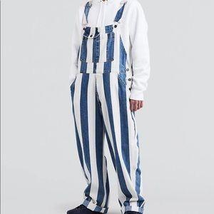Men's Levi's Silvertab Striped Overalls